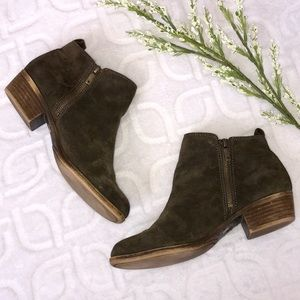 LUCKY BRAND Brown Suede Ankle Booties Size 9